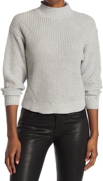 Abound Easy Stitch Ribbed Knit Mock Neck Sweater at Nordstrom Rack