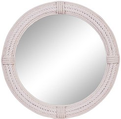 """Willow Row Large - Round White Jute Rope Wall Mirror - 36"""" at Nordstrom Rack"""
