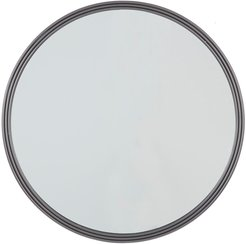 """Willow Row Round Triple Rimmed Silver Metal Wall Mirror - 32"""" X 32"""" at Nordstrom Rack"""