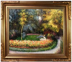 In the Garden by Claude Monet Framed Hand Painted Oil Reproduction at Nordstrom Rack