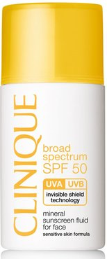 Broad Spectrum Spf 50 Mineral Sunscreen Fluid For Face