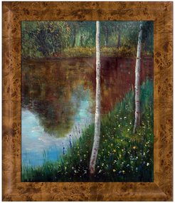 Overstock Art Landscape with Birch Trees by Gustav Klimt Framed Hand Painted Oil Reproduction at Nordstrom Rack