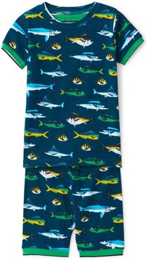 Toddler Boy's Hatley Game Fish Fitted Two-Piece Pajamas