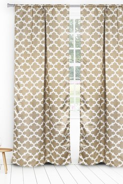 Duck River Textile L'kyra Geometric Blackout Curtain Set - Taupe at Nordstrom Rack
