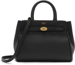 Small Belted Bayswater Convertible Leather Satchel - Black
