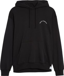 Health Is Wealth Graphic Pullover Hoodie