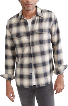 7 For All Mankind Slim Fit Plaid Button-Up Flannel Shirt