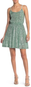 MELLODAY Sequined Button Top Dress at Nordstrom Rack
