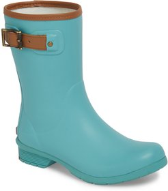 City Solid Mid Height Waterproof Rain Boot