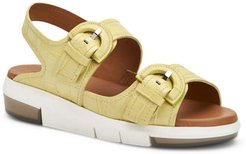 Syndi Nile Croc Embossed Water Resistant Sandal