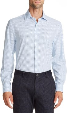 Big & Tall W.r.k Trim Fit Mini Square Performance Dress Shirt