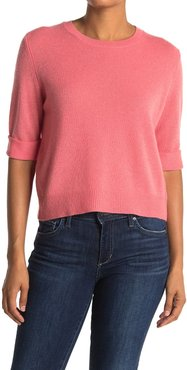 360 Cashmere Moselle Elbow Sleeve Cashmere Sweater Top at Nordstrom Rack