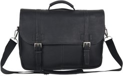Kenneth Cole Reaction Double Gusset Flapover Colombian Leather Laptop Bag at Nordstrom Rack