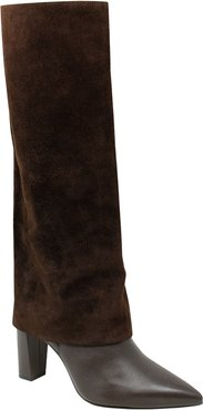 Devil Pointed Toe Knee High Boot