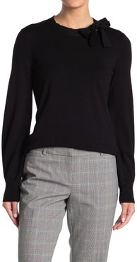 Adrianna Papell Solid Tie Neck Sweater at Nordstrom Rack