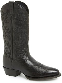 'Heritage' Leather Cowboy R-Toe Boot