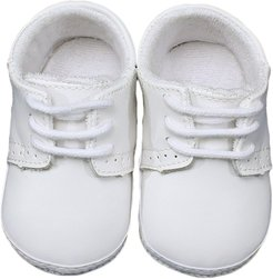 Infant Boy's Little Things Mean A Lot Leather Crib Shoe