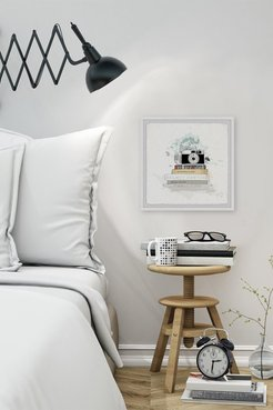 """Marmont Hill Inc. Fashion Camera Framed Painting Print - 24""""x24"""" at Nordstrom Rack"""