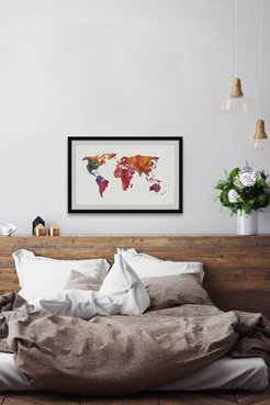 Marmont Hill Inc. Colored Map Wall Art at Nordstrom Rack