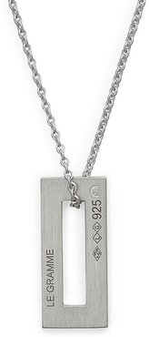 1.5G Reversible Sterling Silver Pendant Necklace