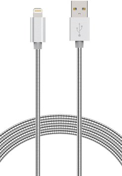 ELEMENT WORKS Silver 6 Ft Stainless Steel iPhone Charging Cable at Nordstrom Rack