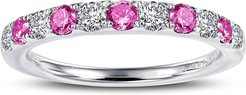 Simulated Diamond Birthstone Band Ring