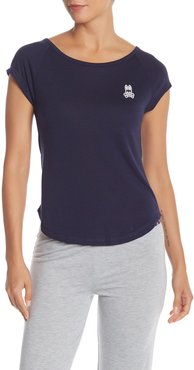 Psycho Bunny Luxe Cap Sleeve Pajama T-Shirt at Nordstrom Rack