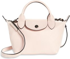 Mini Le Pliage Cuir Leather Top Handle Bag - Pink