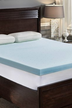 Rio Home Loftworks Jelly Cool Memory Foam Cal King Mattress Topper - White at Nordstrom Rack