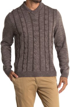Tommy Bahama Pinyon Pines Cable Knit Wool & Cashmere Sweater at Nordstrom Rack