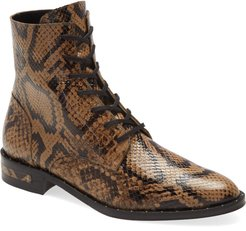 Ralf Snake Embossed Lace-Up Boot