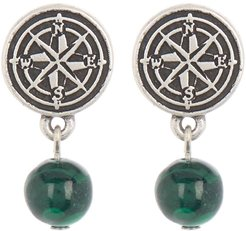 Alex and Ani Compass Coin & Stone Drop Earrings at Nordstrom Rack