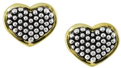 LAGOS 18K Yellow Gold & Sterling Silver Caviar Heart Stud Earrings at Nordstrom Rack