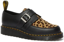Dr. Martens Ramsey Leather Genuine Calf Hair Monk Strap Shoe at Nordstrom Rack