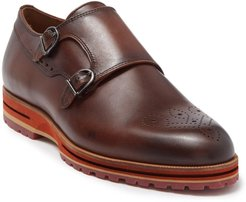 MORAL CODE Gunnar Leather Double Monk Strap Loafer at Nordstrom Rack