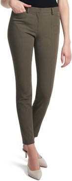 Seamed Stretch Cotton Twill Trousers