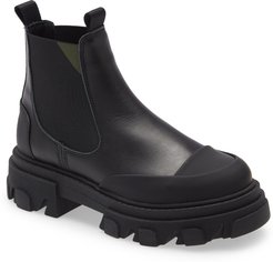 Calfskin Leather Low Chelsea Boot