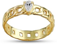 Cubic Zirconia Chain Link Ring