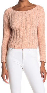 HYFVE Chenille Boxy Ribbed Cropped Sweater at Nordstrom Rack