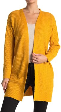 Love by Design Arabella Cable Knit Trim Cardigan at Nordstrom Rack