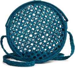 Barichara Woven Rattan Crossbody Bag - Blue