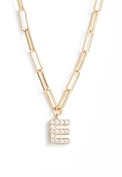 Pave Initial Pendant Necklace