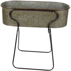 Willow Row Farmhouse Iron Oval Planter with Stand at Nordstrom Rack