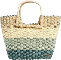 X The Salty Blonde Ride The Waves Straw Tote - Green