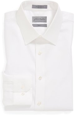 John W. Nordstrom Trim Fit Non-Iron Houndstooth Dress Shirt