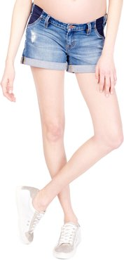 Ingrid & Isabel Mia Inset Maternity Denim Boyfriend Shorts