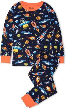 Toddler Boy's Hatley Retro Rocks Fitted Two-Piece Pajamas
