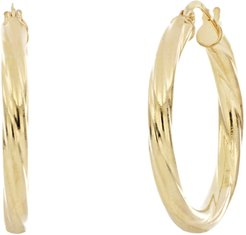 Bony Levy 14K Yellow Gold Polished 26mm Hoop Earrings at Nordstrom Rack