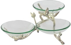 Willow Row Glam Bird & Branches Glass Bowls Stand at Nordstrom Rack