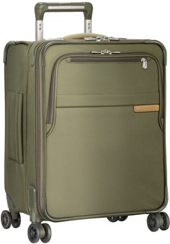 Baseline 21-Inch Expandable Wide-Body Spinner Carry-On - Green